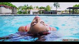 Black Pool Babe Interracial