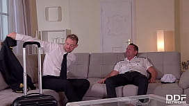 Anissa Kate double penetrate by two pilots