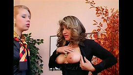 Wicked dominatrix-bitch smothers slave'_s face with some facesitting