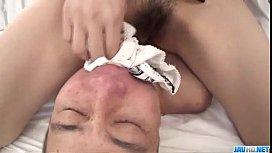 Kana Miura blows cock until a huge facial ending