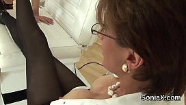 Unfaithful british mature lady sonia shows her massive globes