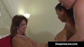 Busty Mommy Deauxma &amp_ Lesbian Minka Get Banged By Hard Hubby