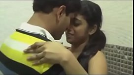 Hot indian couple kissing in bathroom