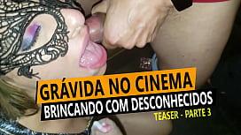 Cristina Almeida curtindo com desconhecidos no cinema porno grávida - Kratos Parte 3\/4