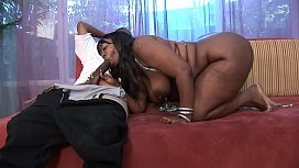 Big booty ebony BBW Hooker sucking dick outside