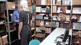 BLONDE SLUT felt and touched in wrong ways for STEALING