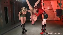 Two Horny Mistress Enjoy Bdsm With a Dude