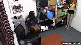 Ebony teen Vienna Black in a hot cock ride inside the office of the LP Officer