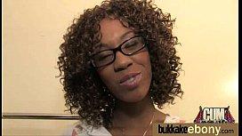 Hot ebony chick love gangbang interracial 12
