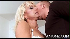 Mature cum with a young homemade porn