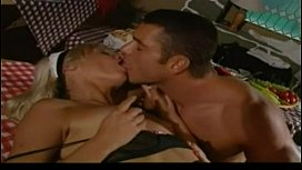 Two blondes share 1 cock