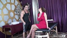 Lewd MILF visits a massage salon