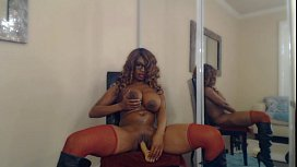 Busty Stripper Nyla Storm Bounces Her Big Butt &amp_ Fucks Her Tight Pussy