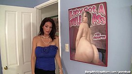 BUSTY STEPMOM RIDES HER STEPSON'S BIG DICK!