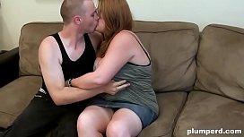 Fat nerd teen fucks with her skinny boyfriend