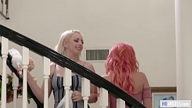 Teaching the cleaning lady! - Lexi Belle and Emily Addison