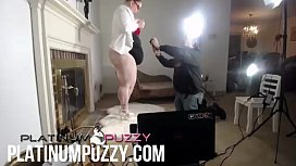 BBW Porn Shoot Platinum Puzzy chubby big butt milf