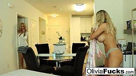 Creepy hot masseuse seduces dumb blonde