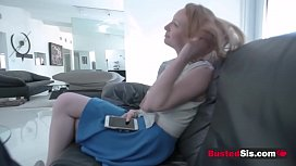 Big booty stepsister is riding a huge cock like a pornstar.
