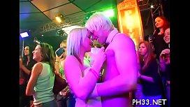 Wild fuck allover the night club everyone having natty juicy group sex