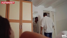 LETSDOEIT - Cheating Thot Gets Caught By Boyfriend Coming From Work (Amirah Adara)