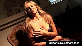 Hot Teasing Milf Julia Ann Touches Herself In Fishnets!