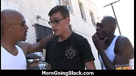 Monster black cock bangs my moms white pussy 8