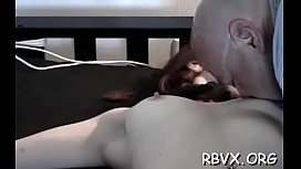 Bounded playgirl gets choked, manhandled and titillated