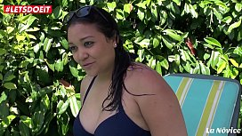 LETSDOEIT - Amateur French BBW gets Kinky at The Pool