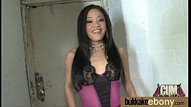 Hot ebony chick love gangbang interracial 26