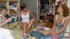 Teen Sluts Share Creampie