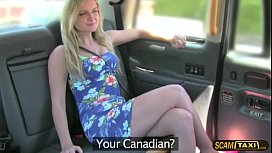 Hottie blonde Canadian slut pays anal sex for taxi ride