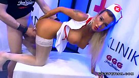 Busty nurse czech daisy lee in cumshots party