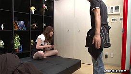 Japanese cock teaser, Rui Yazawa is peeing, uncensored