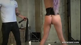 Submissive Babe In Corset Bound And Used For Pleasure