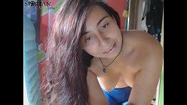 Hairy Pussy Latina Female Masturbates On Webcam