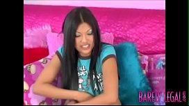 Asian Kea Kulani eating cum after teenage cockride