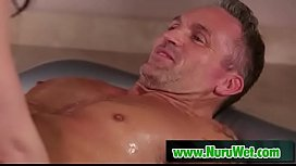 Chanel Preston gives a slippery nuru massage to Marcus London