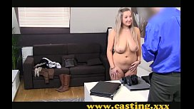 Casting - Hot chubby girl strokes a thick one