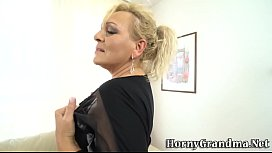 Tongued busty grandma