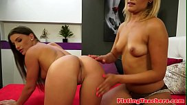 Hairy euro fisted in a lesbian scene
