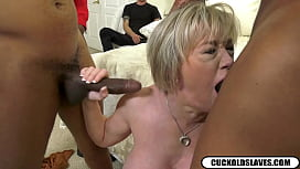 Dee Williams sucking on big black dicks