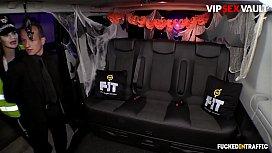 VIP SEX VAULT - #Jasmine Jae - Halloween Sex On The Van With A Busty Police Officer Lady