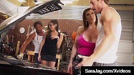 Thick Hot Milf Sara Jay &amp_ Dava Fox Milk 2 Crazy Hard Dicks!