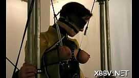 Bazookas torture and bawdy cleft bdsm toying for woman in heats