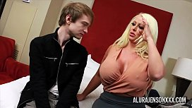 Cuckold threesome with big tit pornstar Alura Jenson