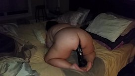 Bbw fucking huge dildo again