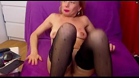 Sexy European Mature Milf Masturbating on Cam and Squirting Repeatedly