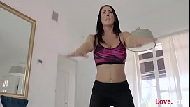 Mom Works On Son While He Works Out- Reagan Foxx