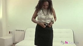 Dirty job interview with Carol Linda. The first condition is being a big slut